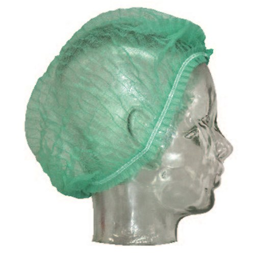 Hair Net Disposable 21Ins Green Crimped Beret Double Stitched 1000/Ctn
