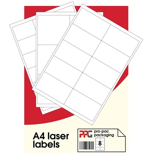 Label Sheet A4 Plain White 16/Sheet 100SHT/Pack