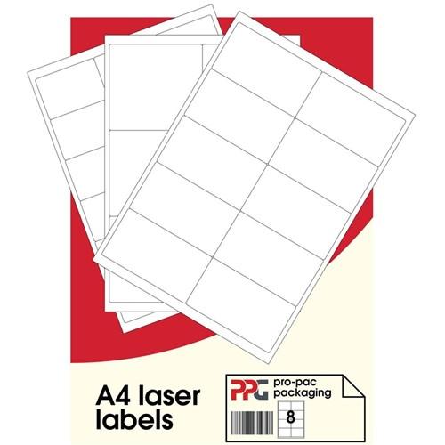 Label Sheet A4 Plain White 84/Sheet 100SHT/Pack