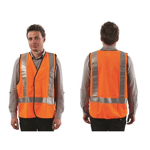 Safety Vest Day/Night LGE Fluro Orange H Back