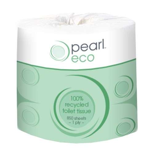 Toilet Tissue Roll 1 Ply 850Sh Pearl Eco 48/Ctn