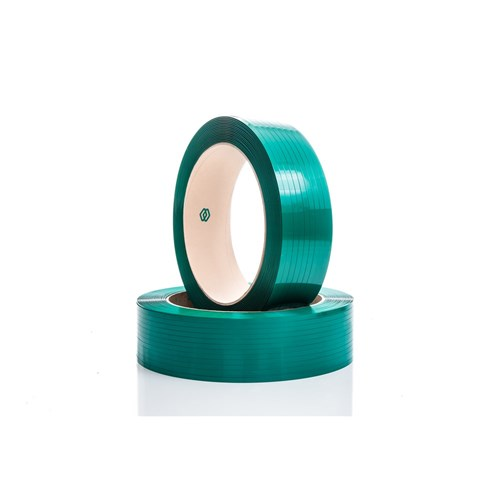 Pet Strapping 12mm x 2500m Green 0.65mm Embossed